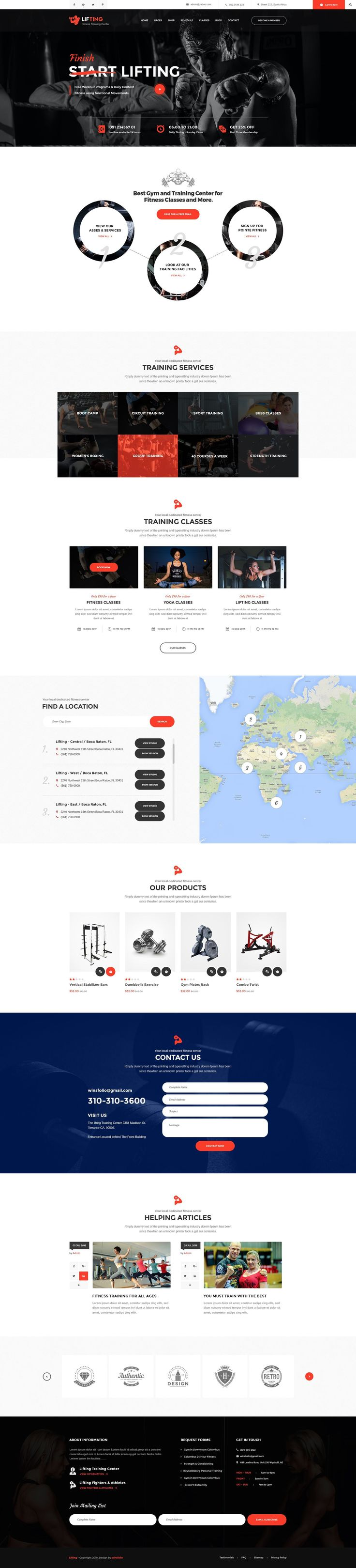 Best 25 personal trainer website ideas on pinterest best web lifting is a psd template created especially for gym yoga fitness clubs crossfit 1betcityfo Images
