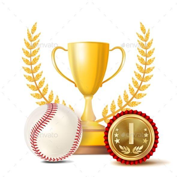 Baseball Achievement Award Vector Sport Banner Achievement Awards Baseball Vector