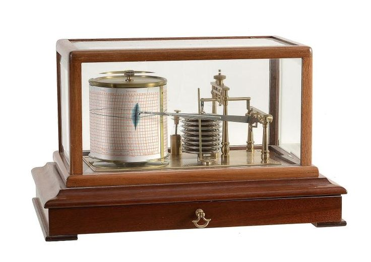 A mahogany cased barograph Unsigned, mid to late 20th century The mechanism...