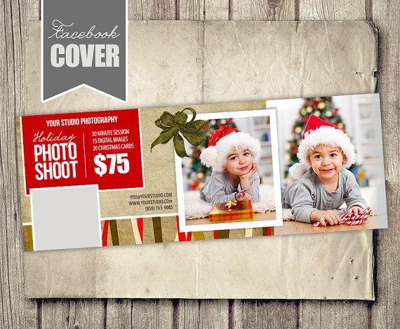 Facebook Cover Photo Template  Christmas by StudioTwentyNine, $8.00