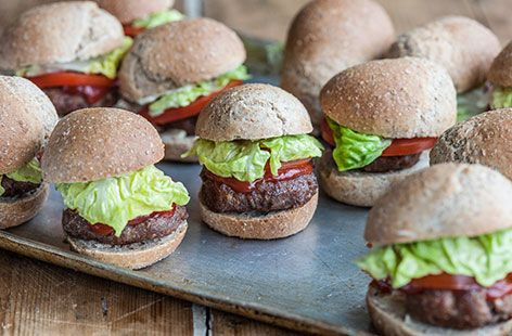 Lisa Allen's Turkey Sliders with Homemade Buns - Tesco Real Food - Tesco Real Food