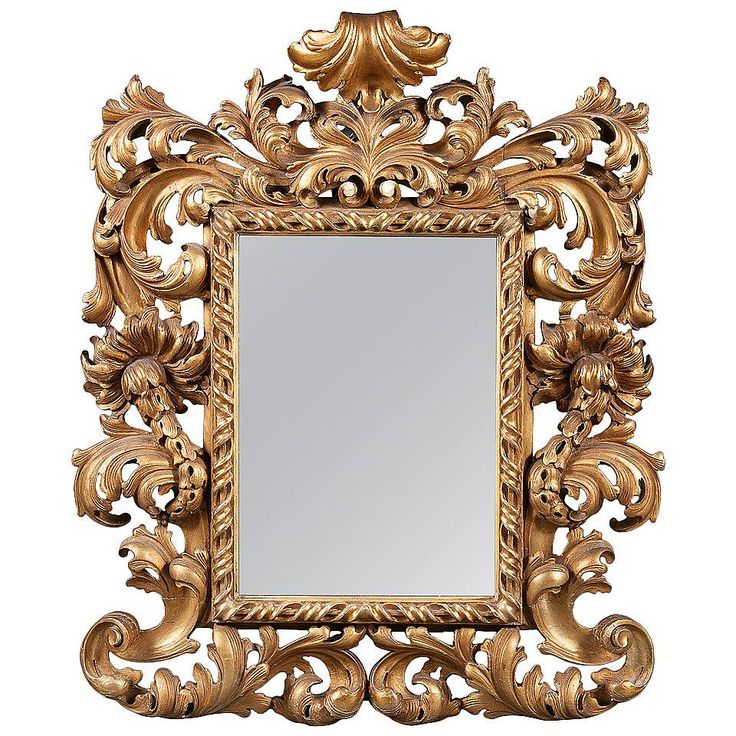 An Intricate 19th Century French Giltwood Rococo Style Vanity or Wall Mirror