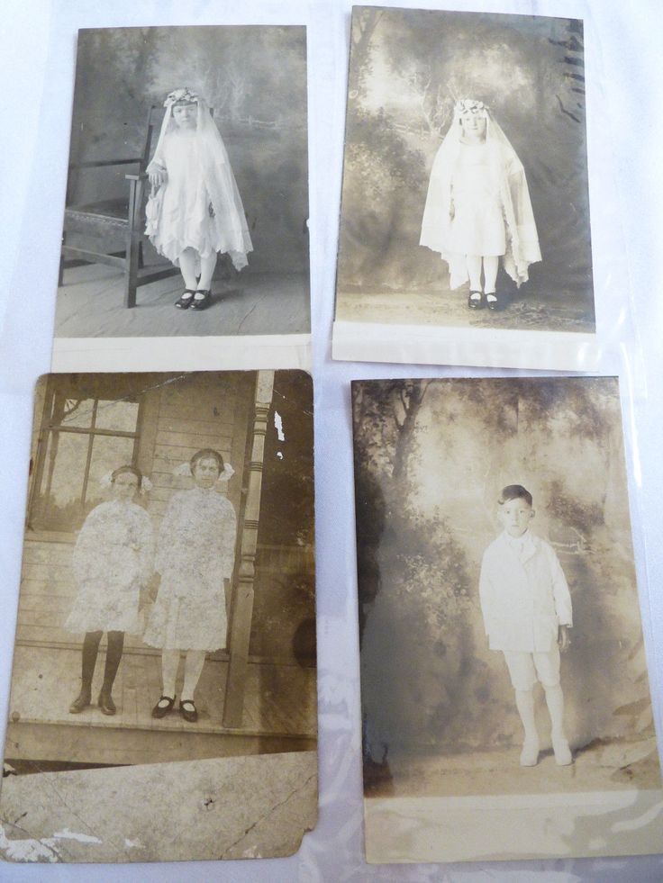 Lot of 4 Vintage Antique Post Card Photo Photograph Kids Children | eBay