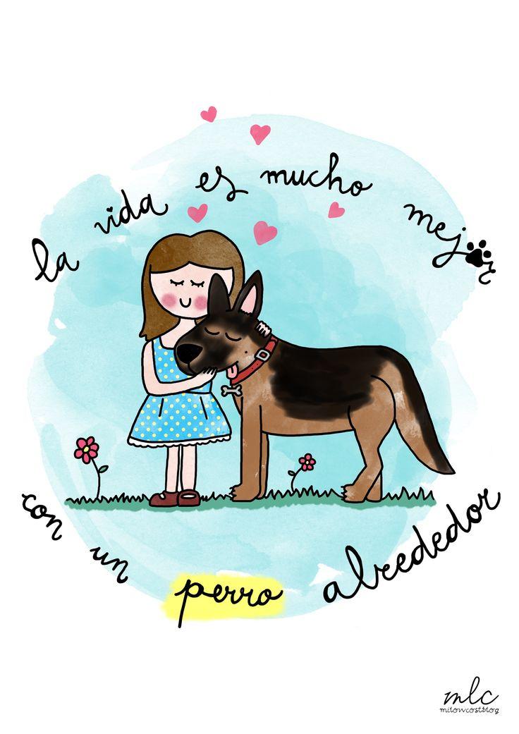 imprimible la vida con perro - milowcostblog