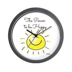 The Power To Be Happy Wall Clock