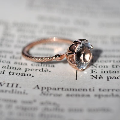 arcadia wedding band. kilda rose arcadia ring, featuring a victorian style bubble setting, in gold set with brilliant cut quartz. wedding band