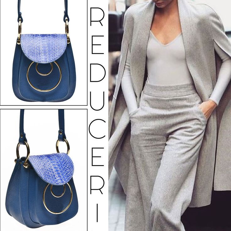 Check out this blue snakeskin shoulder bag on sales: http://bit.ly/natalie-blue-bag @comenziwildinga