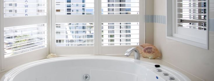 Add shutters to your bathroom!