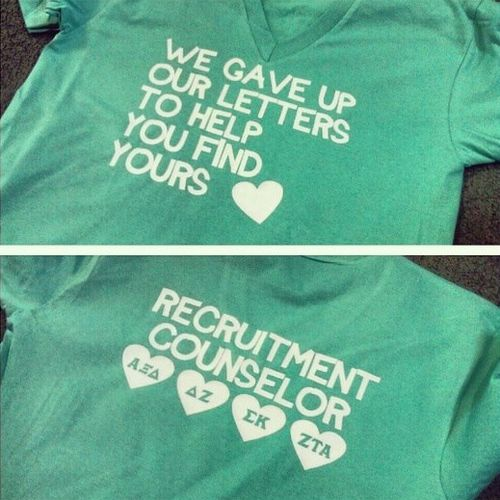 Recruitment counselor shirts