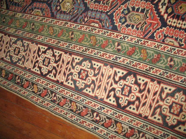 Antique Collectors Caucasian Shirvan Chi Chi Kuba Dated Rug Size 3'10''x10'10'' #Caucasian