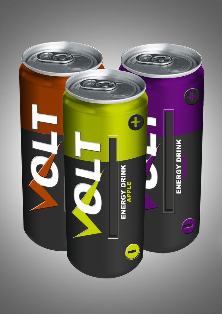 PACKAGING energy drink concept by Milenka Carpio