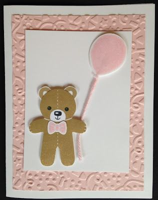 Black Kat Stamp Designs: Balloon Bear for Baby! Stampin Up; Cookie Cutter Christmas stamp set; Cookie Cutter Builder punch