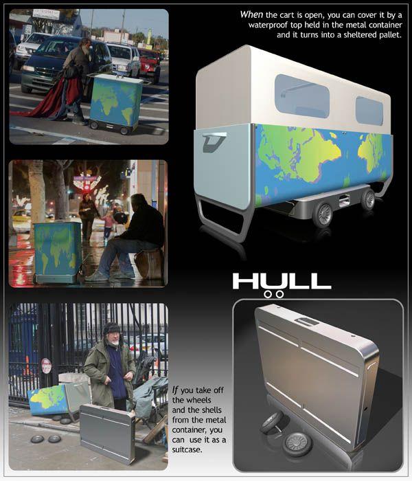 HULL - Shelter in a cart - designer Marco Baxadonne