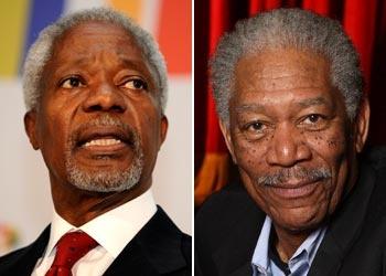 Kofi Annan or Morgan Freeman