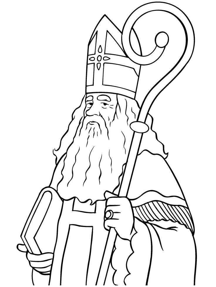 sinterklaas coloring pages - photo#40