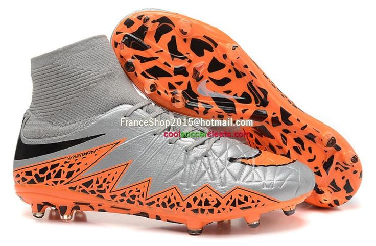 ... the latest style, the lowest price, best service, the fastest Nike  Hypervenom Phantom II FG High Top Soccer Cleats Wolf Grey Total Orange ...