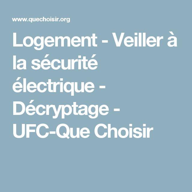 Logement - Veiller à la sécurité électrique - Décryptage - UFC-Que Choisir