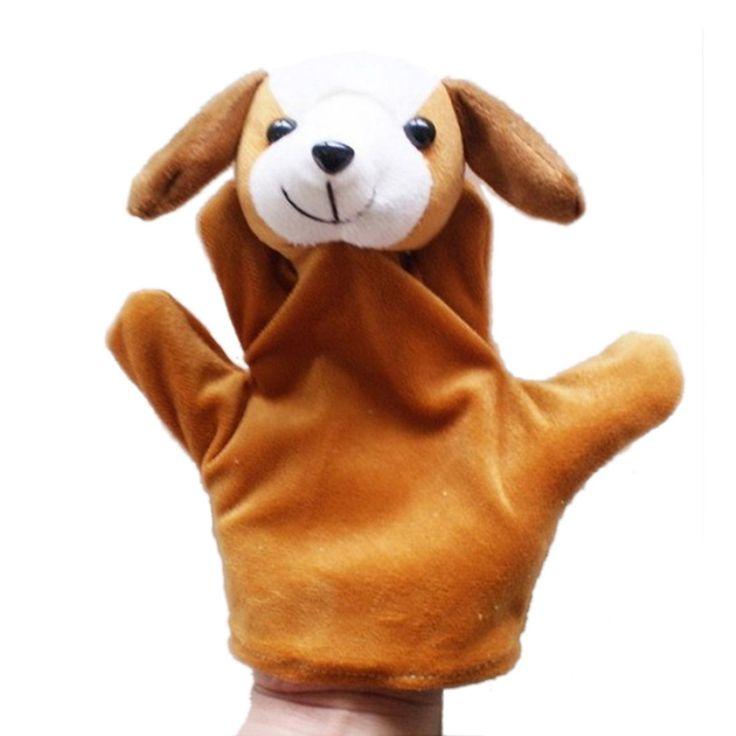 Mignon Grande Taille Animaux Gant Marionnette Poupées En Peluche Jouet bébé kid Zoo Animal Farm Main Sac En Peluche Jouet en gros