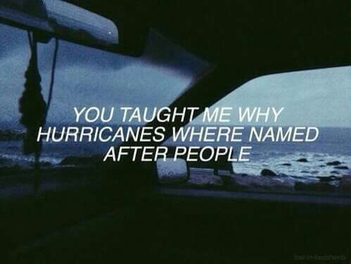 You taugh me why hurricanes where named after people.