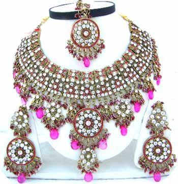 Indian Bridal Jewelry Sets Diamonds JVS 103