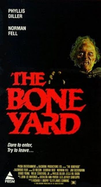 'The Boneyard' (1991) is a horror film that was written and directed by James Cummins.. Find out more: http://thezombiesite.com/the-boneyard-1991/
