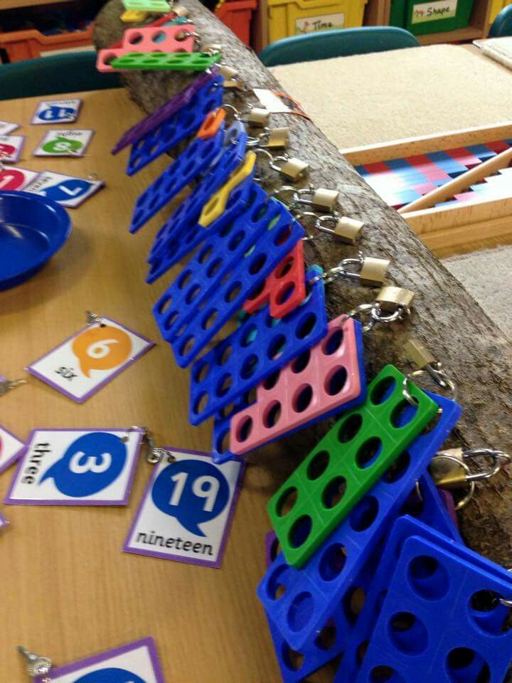 Numicon/number matching with keys and padlocks