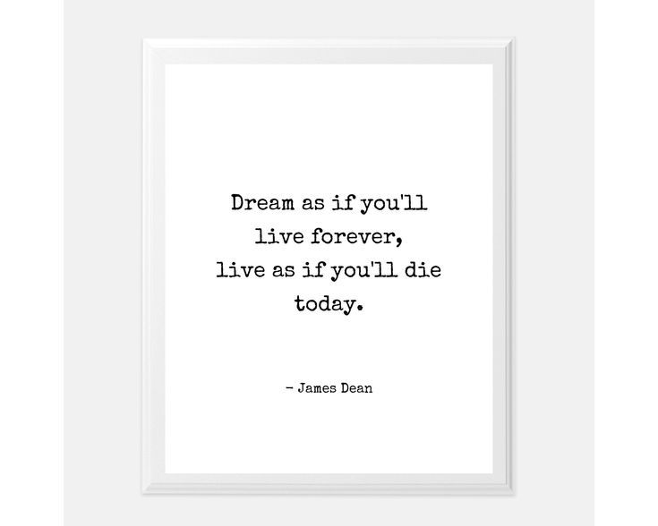 Dream As If You Wall Art