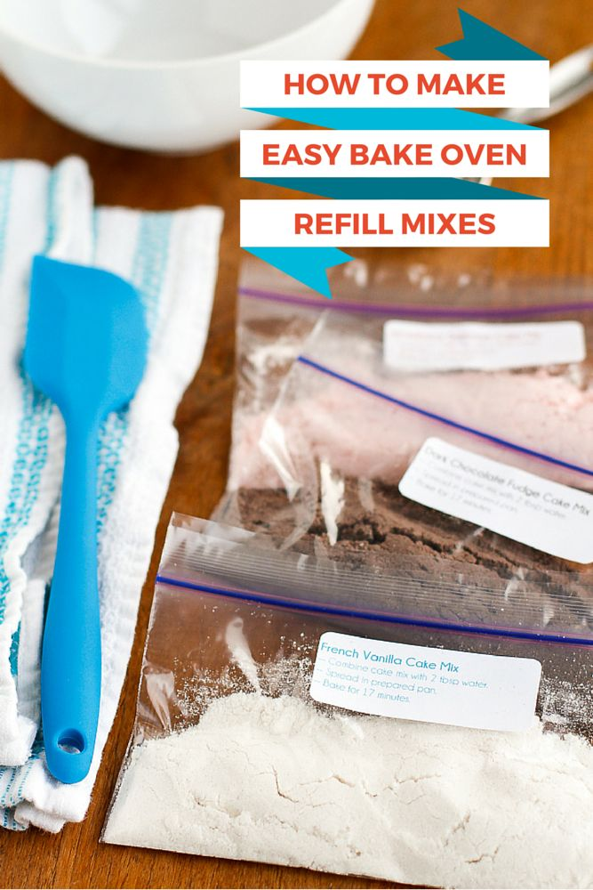 How To Make Easy Bake Oven Mixes -- learn how to make your own Easy Bake Oven refills from boxed cake mixes, yields 33 refills for under $4!!! If you have a little girl that loves to bake with her Easy Bake Oven, you NEED to read this now... | via @unsophisticook on unsophisticook.com