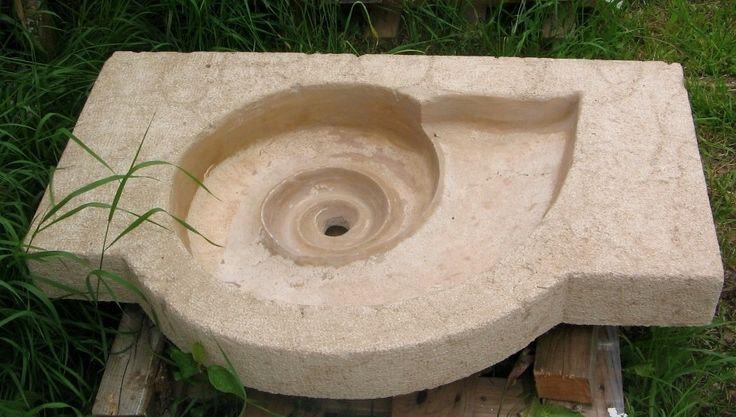 Evier de jardin escargot - campagnard rustique - cuisine extérieure : Meubles et rangements par akhacia-creations