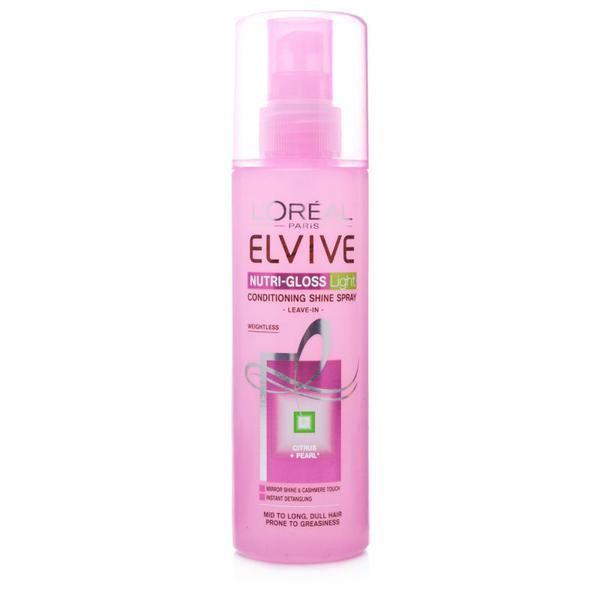 L'Oreal Elvive Nutri-gloss Light Conditioning Shine Spray #haircare #hair #beauty