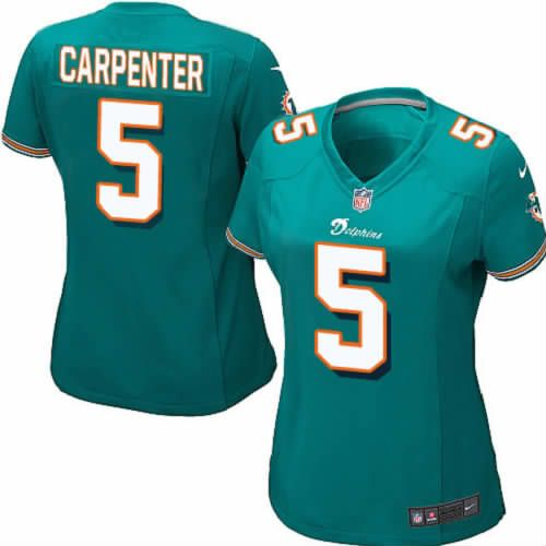 Dan Carpenter Jersey Miami Dolphins #5 Womens Green Game Jersey Nike NFL Jersey Sale