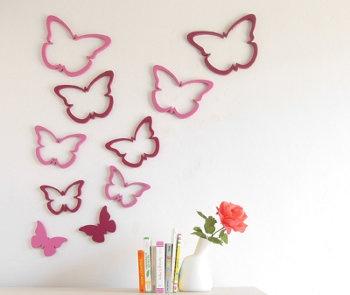 Con goma eva mariposas decorativas pinterest - Mariposas decoracion pared ...