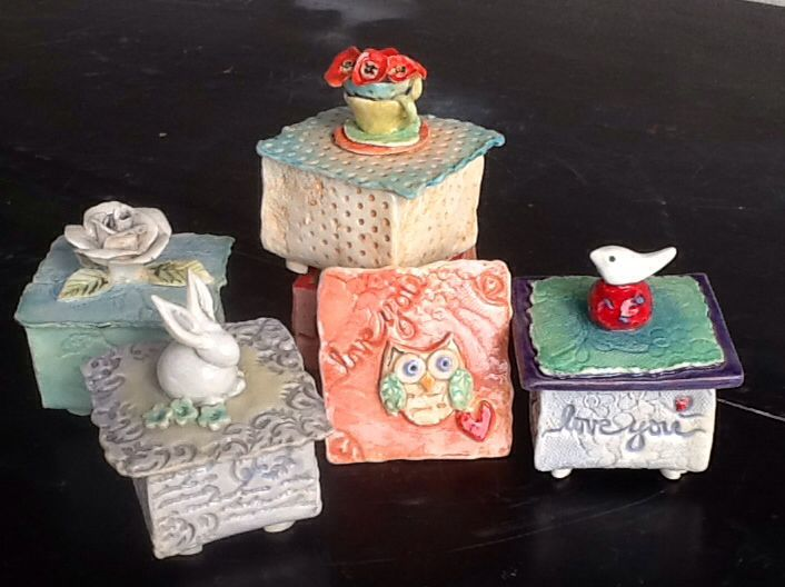 Ceramic boxes by Eleanor Gillitt