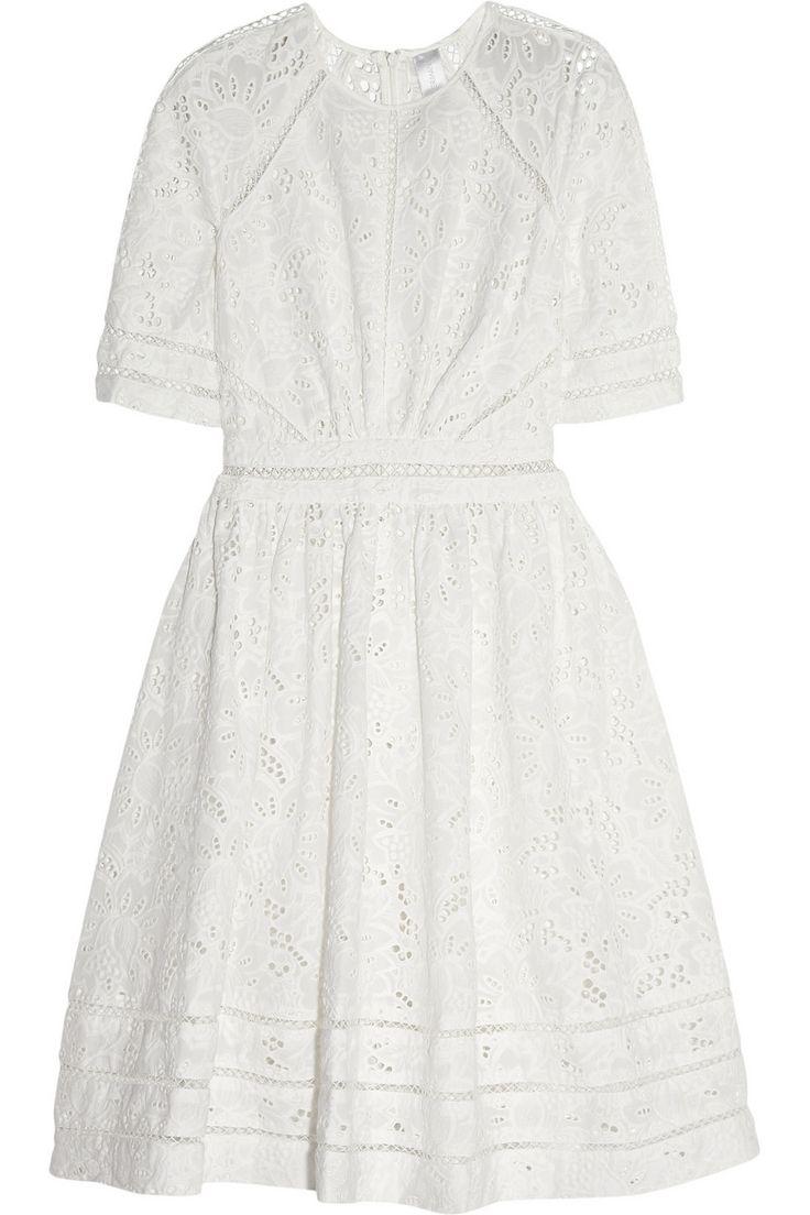 Zimmermann|Roamer broderie anglaise cotton dress|NET-A-PORTER.COM