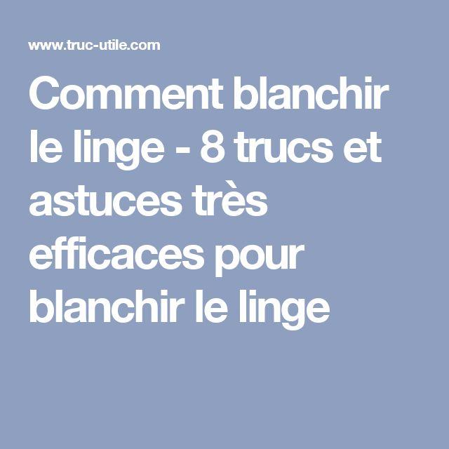 Delightful Comment Blanchir Du Linge #6: Comment Blanchir Le Linge - 8 Trucs Et Astuces Très Efficaces Pour Blanchir  Le Linge