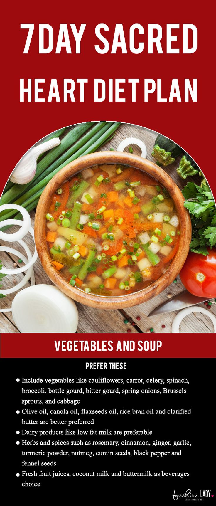 7 Day Sacred Heart Diet Plan Vegetable Soup Recipes Soup Recipes Healthy Soup Recipes