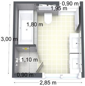 Idée décoration Salle de bain bathroom floor plan