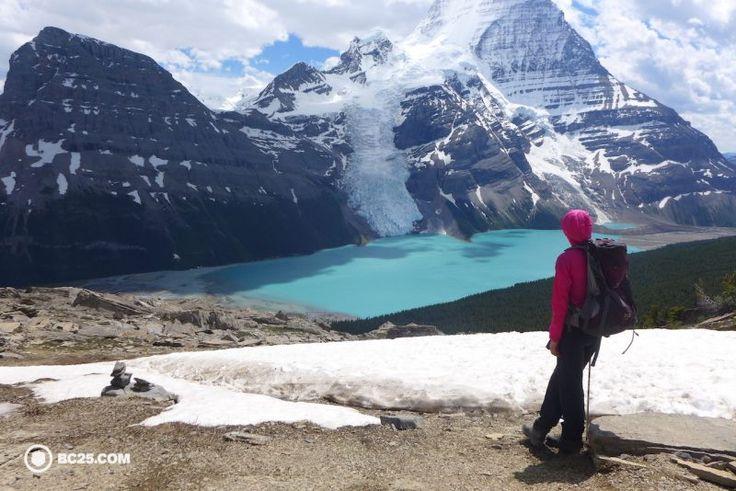 mount robson above berg lake. #hiking #backpacking