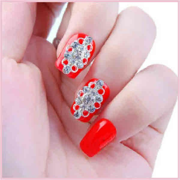 130 best cute nail designs images on pinterest cute nail designs cute nail designs 5 pcs dazzling rhinestoned hollow design 3d nail art 568 free prinsesfo Choice Image
