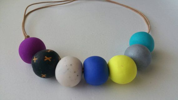 Check out this item in my Etsy shop https://www.etsy.com/au/listing/253537111/polymer-clay-necklace-kriskros