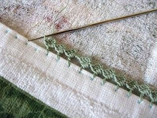 Crocheted edging tutorial
