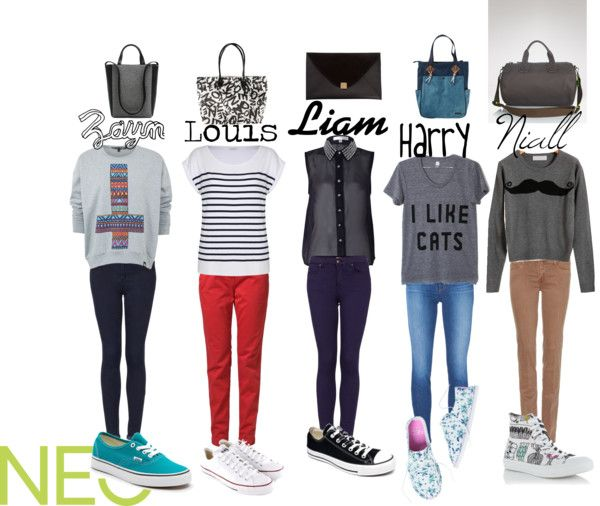 """One Direction Girls"" by neonew ❤ liked on Polyvore"