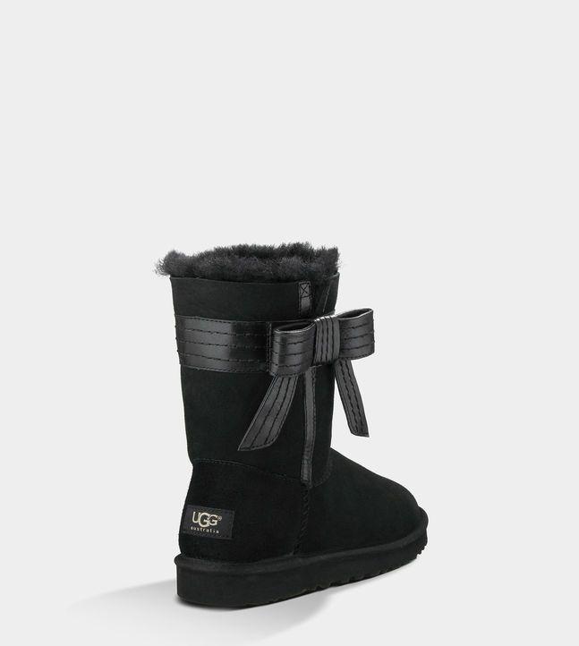Boots UGG - Noir avec Noeud Josette | UGG