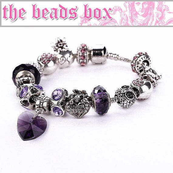 SL-24 Bracelet 925 Sterling Silver Murano Glass & by TheBeadsBox