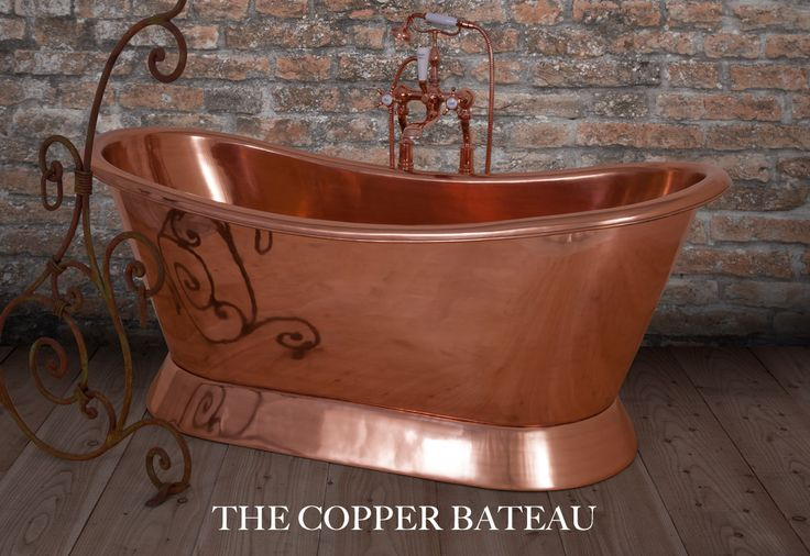 Copper Bateau - Copper Roll Top Bath