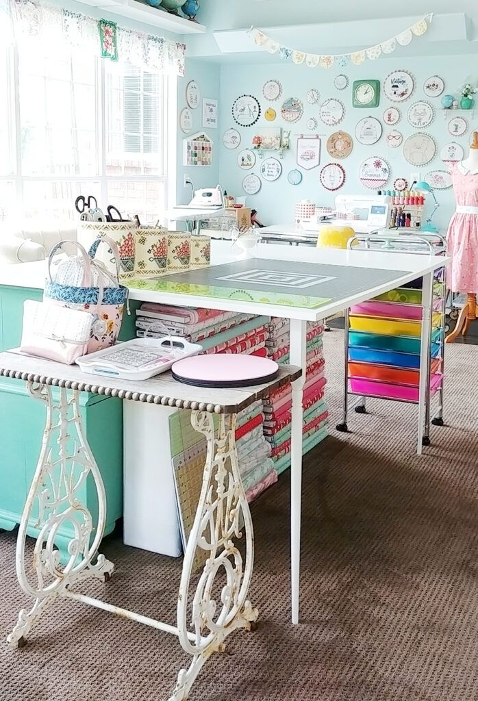 Sewing Room Studio Reveal   Flamingo Toes – Featured at the Home Matters Linky P…
