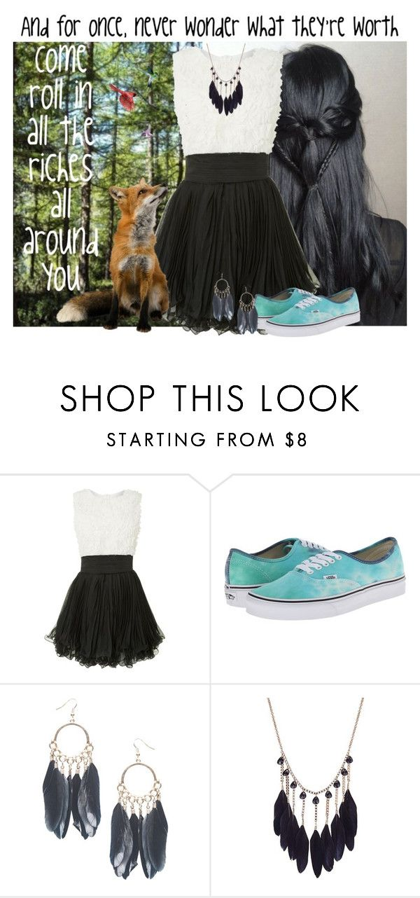"""""""Colors of the Wind by Stephen Schwartz"""" by kenziebass ❤ liked on Polyvore featuring Jolie Moi, Vans, Wet Seal, disney, scene, pocahontas and colorsofthewind"""