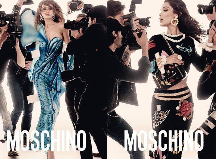 Gigi & Bella Hadid for Moschino Spring 2017 Ad Campaign