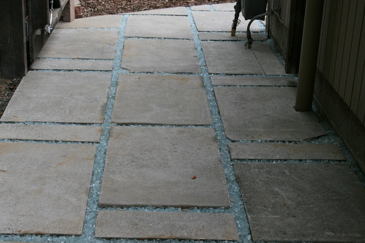 Quot Urbanite Quot Saw Cut Existing Concrete Patio Into Stepping