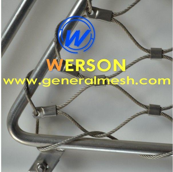 China generalmesh Webnet malla realizada con cables de acero inoxidable,MW 50x87mm , Email : sales@generalmesh.com Skype:jennis01 Wechat: 148117712